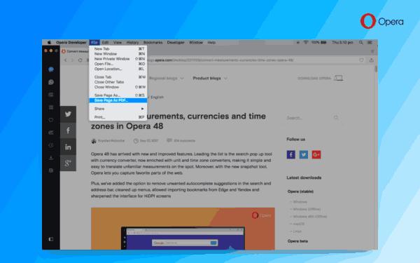 Opera50 Save Page PDF