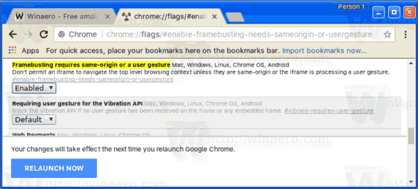 Enable Redirect Blocker in Google Chrome