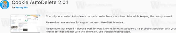 Firefox 57 Cookie Autodelete
