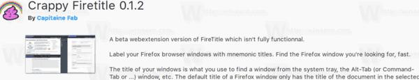 Firefox 57 Firetitle