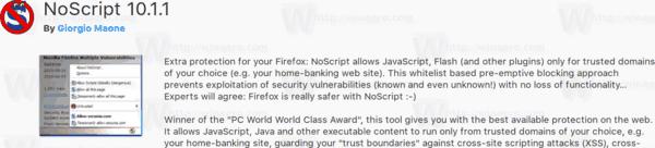 Firefox 57 Noscript