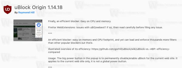 Firefox 57 Ublock
