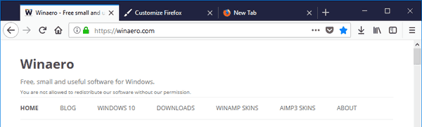 Firefox Drap Space Enabled