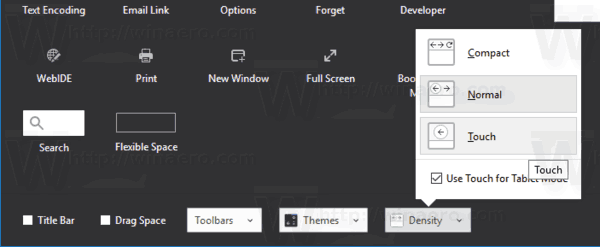 Firefox Change Density