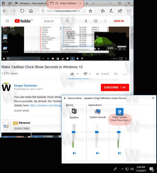 Mute A Tab Edge Windows 10