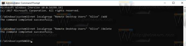 Remote Deskop Net Command
