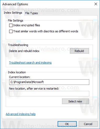 Disable Search Indexing in Windows 10