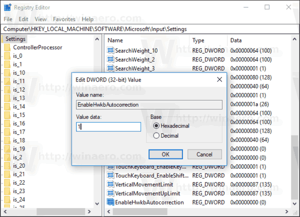 Windows 10 Enable Auto Correction