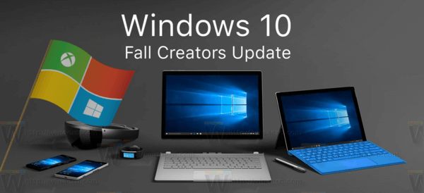 Windows 10 Fall Creators Update Logo Banner