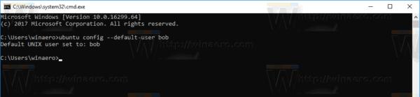 Windows 10 Set Default User Wsl