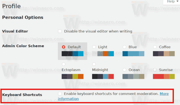 Enable Shortcuts For Comments WordPress