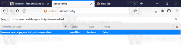 Firefox 57 Activity Stream Disabled About Config