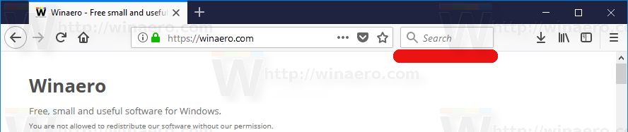 Firefox 57 Enable Search Bar