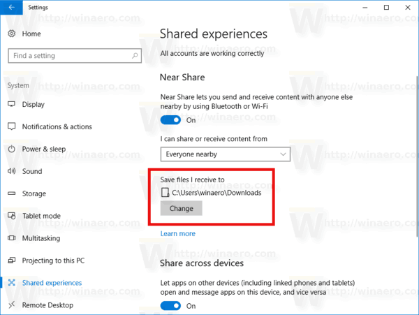 how to change the download location in windows 10