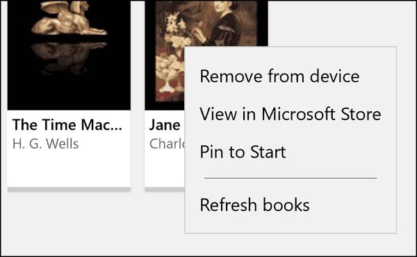 New Context Menu Items For Book Edge