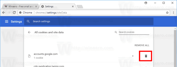 Chrome Remove Certain Sites Cookies