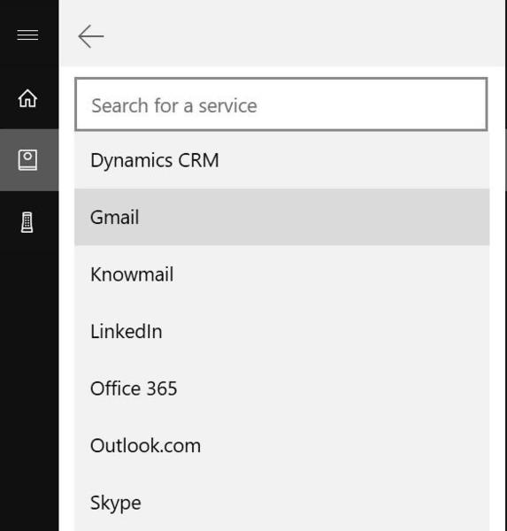 Cortana Connect Gmail Google Account 1