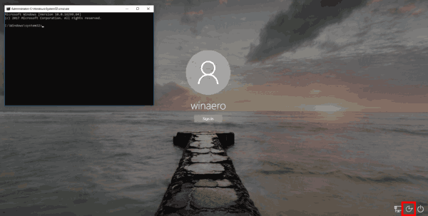 Login Screen Screenshot Windows 10 Step 1