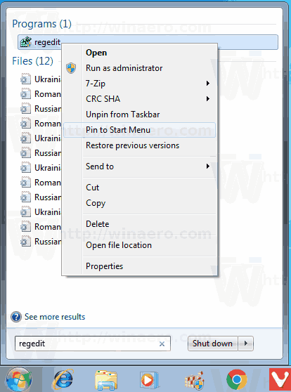 fix start menu windows 10 regedit