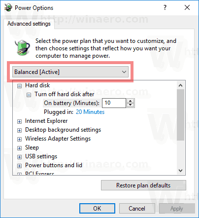 How to Export and Import a Power Plan in Windows 10