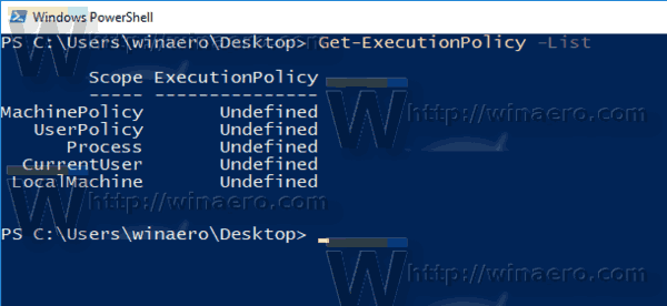 PowerShell See Execution Policy