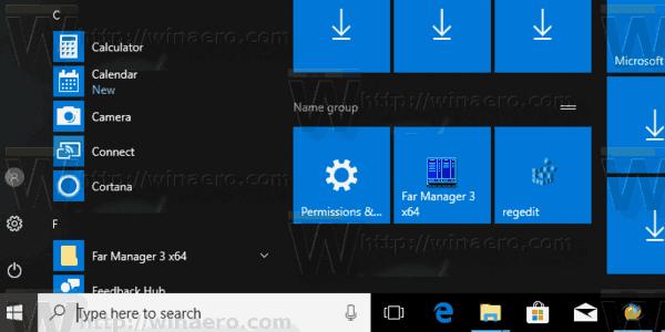 Regedit Pinned To Start Menu In Windows 10