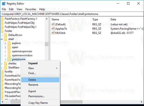 Remove Pin To Quick Access Context Menu
