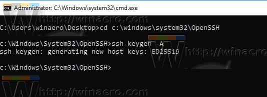Sshd Server Generate Keys