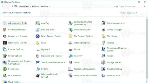 Windows 10 Applets Are Hidden