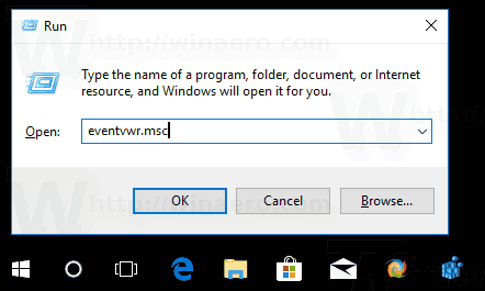 Windows 10 Open Event Viewer