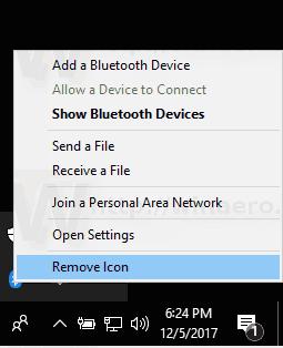 Windows 10 Remove Bluetooth Taskbar Icon