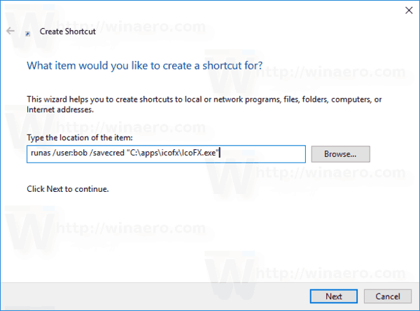 Windows 10 Runas Tool Step 4