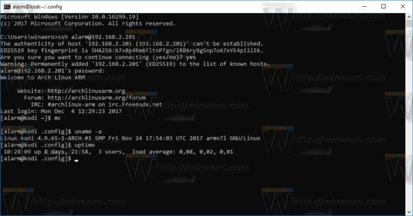 Windows 10 SSH Client In Action