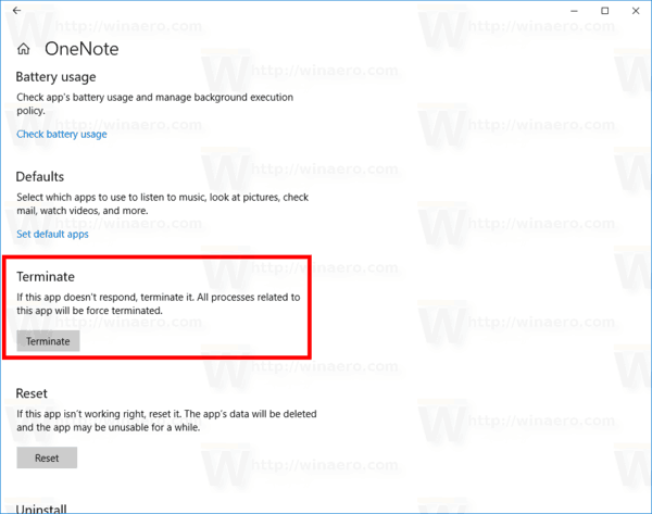 Windows 10 Terminate A Store App