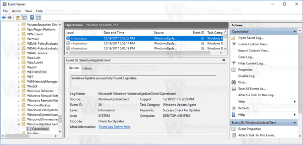 Windows 10 Windows Update Logs In Event Viewer