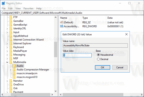 Windows 10 Enable Mono Audio With Tweak