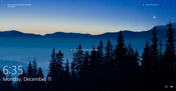 Windows 10 Lock Screen In Action Original