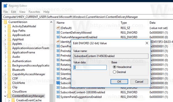 Windows 10 Mypeople Suggested Apps Registry Tweak