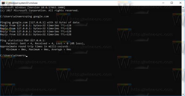 Windows 10 Test Hosts File