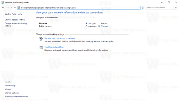 Disable Password Protected Sharing in Windows 10