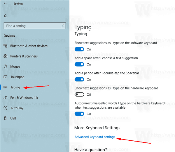 How to Set Default Keyboard Layout in Windows 10