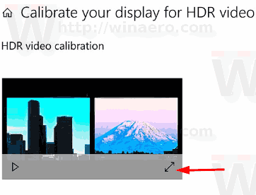 Calibrate Display For HDR Video Windows 10