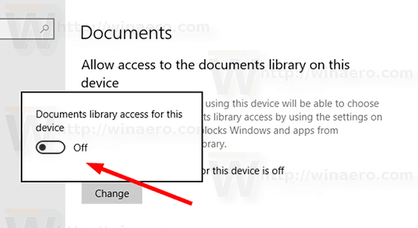 Enable Windows Access To Documents