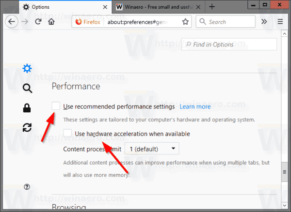 Firefox Disable Hardware Acceleration