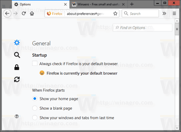 Firefox Options