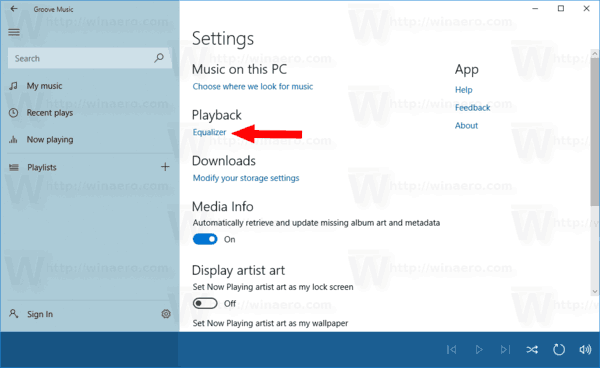 How To Enable Equalizer In Groove Music In Windows 10