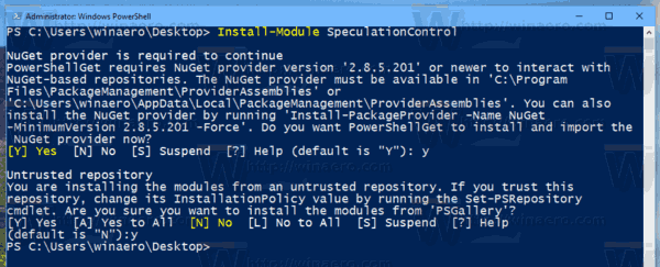 Install PS Module Windows 10