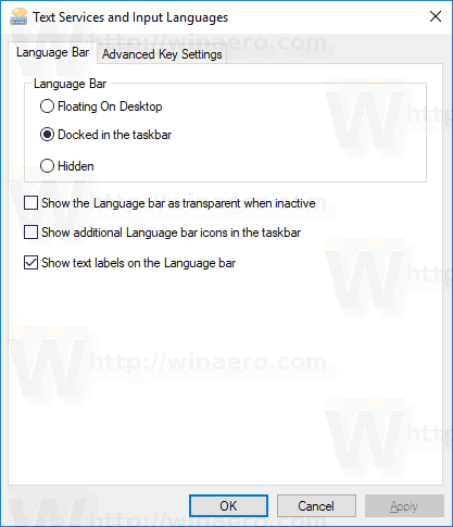 Keyboard Layout Dialog