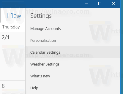 Windows 10 Calendar Change First Day Of The Week Step2