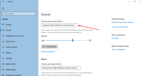 Windows 10 Choose Default Audio Device